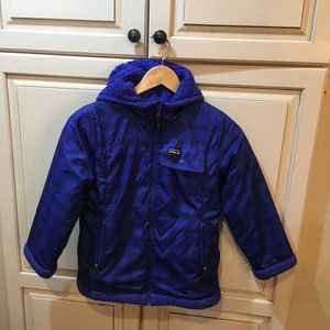 Patagonia puffer jacket blue girl's s